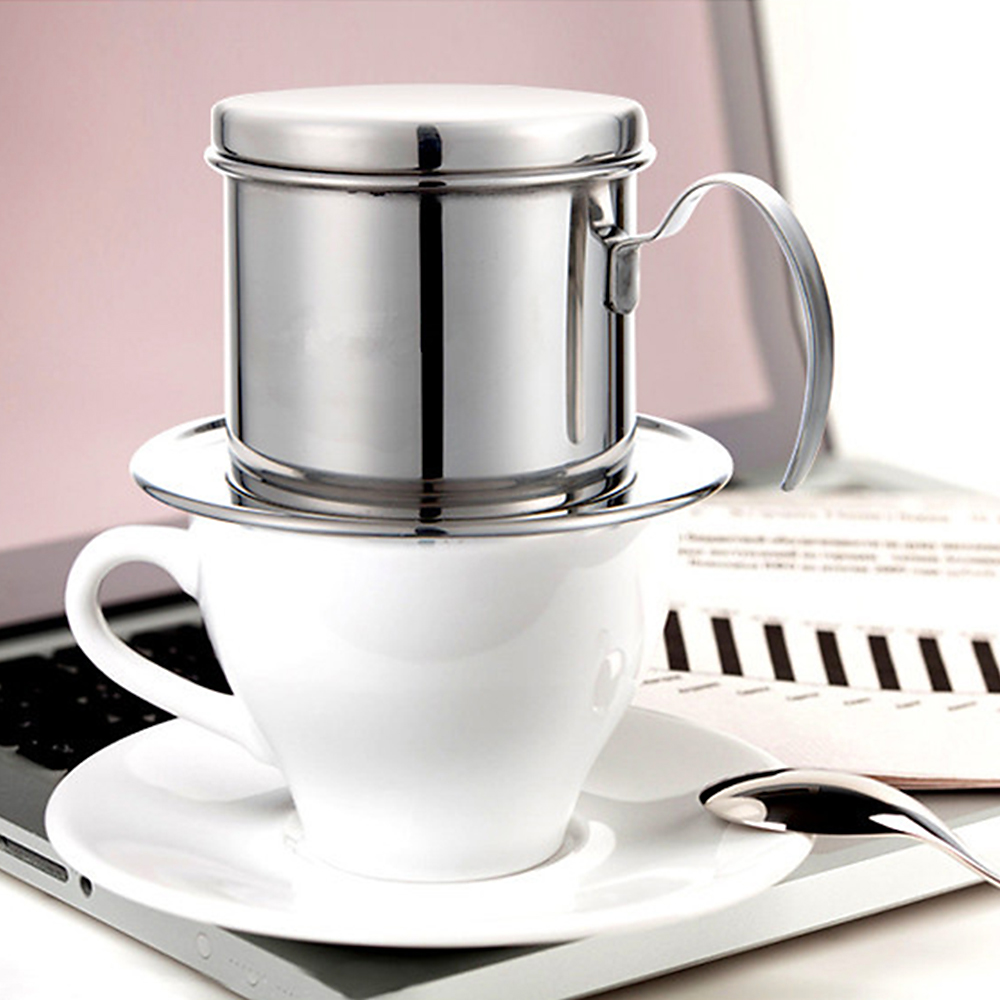 Image 4 - Portable Coffee Dripper Vietnamese Coffee Maker Dripper Stainless Steel Coffee Filter Pot Outdoor Tableware Travelling-in Outdoor Tablewares from Sports & Entertainment