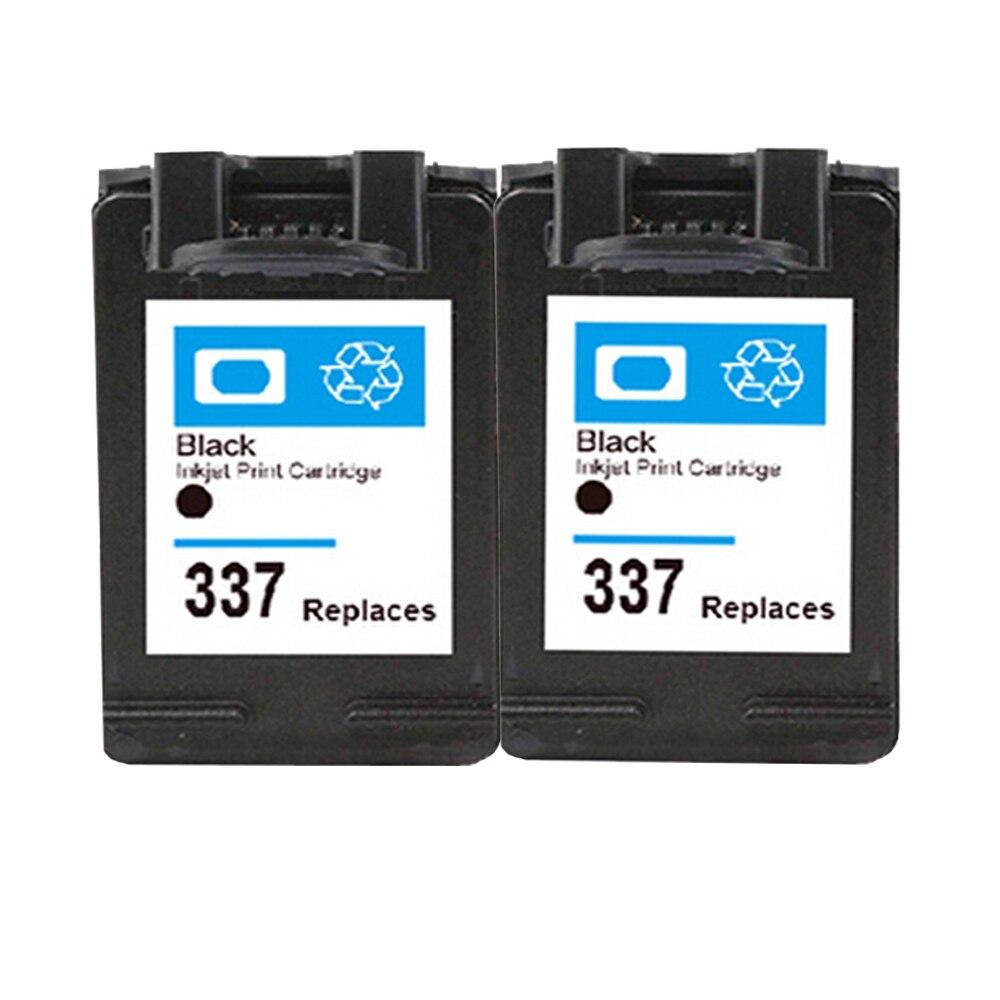 2 stücke kompatibel hp 337 tintenpatrone für photosmart c4100 c4150 c4180 c4190...