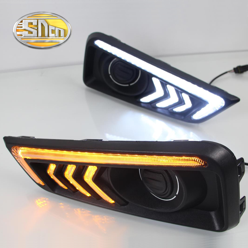 SNCN LED Daytime Running Light For Honda City Grace 2015 2016,Car Accessories Waterproof ABS 12V DRL Fog Lamp Decoration sncn led daytime running light for honda city 2017 2018 car accessories waterproof abs 12v drl auto bulb fog lamp decoration