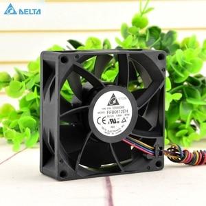 Image 1 - Delta FFB0812EH 8CM 80MM 8025 80*80*25MM 12V 0.80A şiddetli rüzgar kapasitesi 4 telli fan PWM desteği