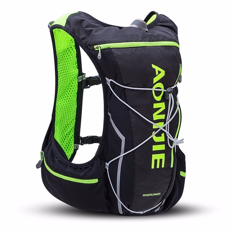 AONIJIE 10L Trail Running Bag Men Women Hydration Backpack Jogging Hiking Sport Vest Waist Pack Waterproof 10l professional hydration bag bicycle backpack for men road packsack rucksack vest bag hydration pack women s shoulder bags 508