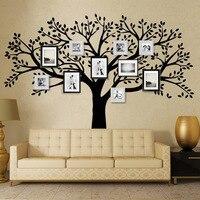 الماركة شجرة العائلة إطار الصورة شجرة جدار الشارات الفينيل الجدار صائق ملصقات غرفة المعيشة ديكور المنزل جدار ملصقا