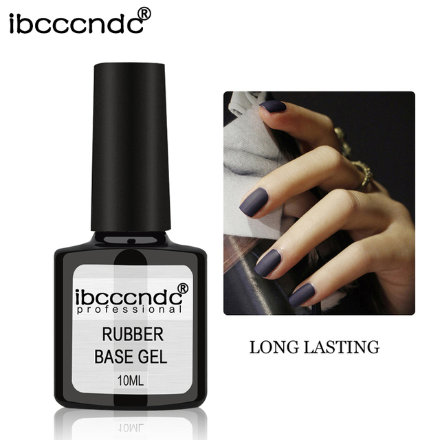 10ml IBCCCNDC Rubber Base Coat Top Coat Long Lasting Kodi Nail Art ...