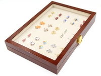 promotion glass jewelry box caryying cufflinks cases gift box free shipping