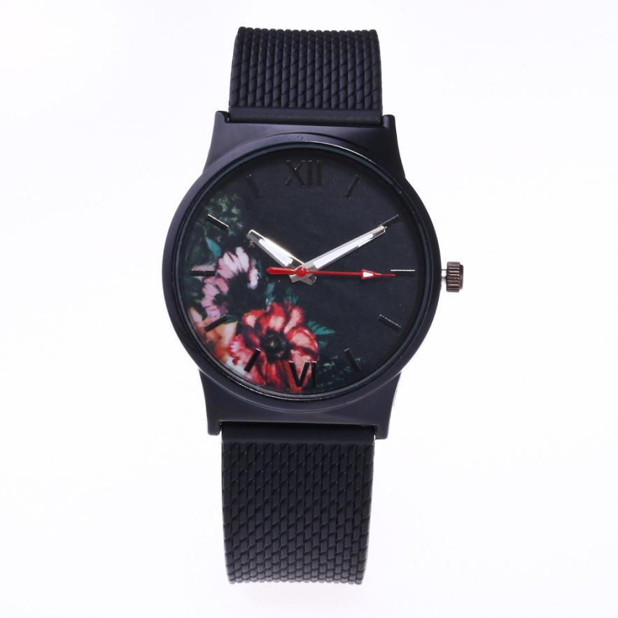 Proste Okrągłe Kobiety Zegarek kwarcowy Na Rękę Reloj Mujer Silikon Analogowe Alloy Zegarki Relogio Feminino 18JAN4