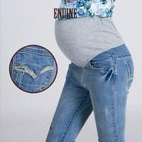 Autumn / Summer 2018 Maternity Plus Size Elastic Waist Maternity Jeans Pants For Pregnancy Clothes For Pregnant Women Legging