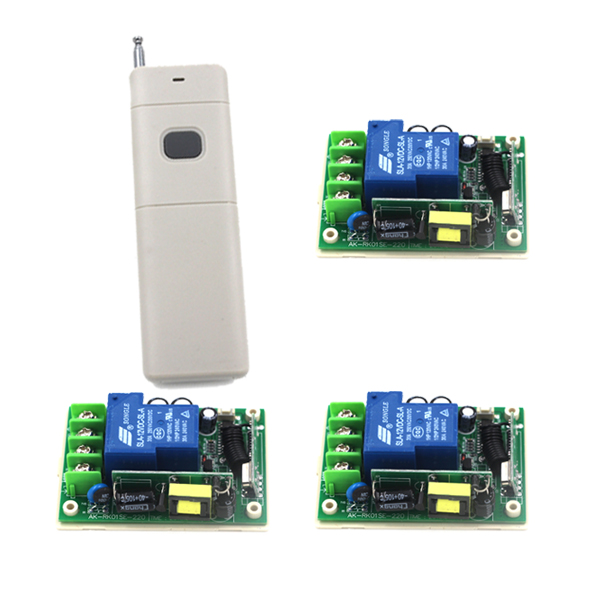 Smart Control 433 MHz Multifunctional AC 85V-250V 30A 1 Channel Remote Control Switch SKU: 5288 chunghop rm l7 multifunctional learning remote control silver