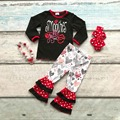 baby girls V-day clothes girls smooches yall Valentiens days outfits with heart pant children boutique clothing with accessoreis