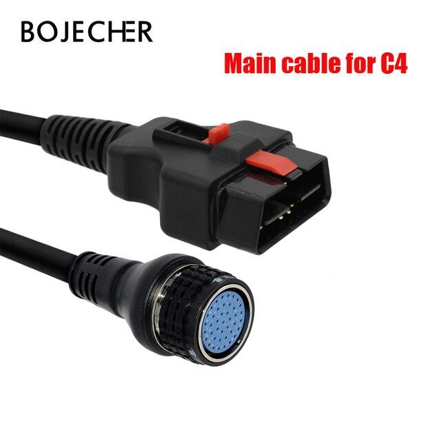 טוב באיכות SD חיבור קומפקטי 4 ראשי בדיקות כבל OBD II 16PIN עבור MB הכוכבים SD C4 רכב אבחון כלי כבל מתאם