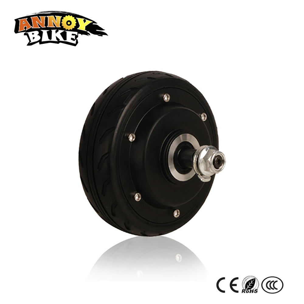 Electric Skateboard wheel motor 5''dc 24-36v 200w250w hub motor electric motor electric scooter mini ebike wheel motor 4 wheel electric skateboard single driver motor small fish plate wireless remote control longboard waveboard 15km h 120kg