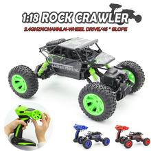 1:18 2.4G 4WD Rock Crawler 4CH RC Car RC 4×4 Rock Crawlers Car Double Motors Drive Bigfoot Car Remote Control Car Model Off-Road