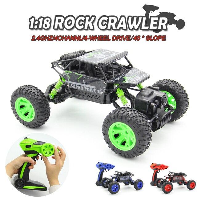 Comprar ahora 1:18 2,4g 4WD Rock Crawler 4CH RC coche RC 4x4 Rock ...