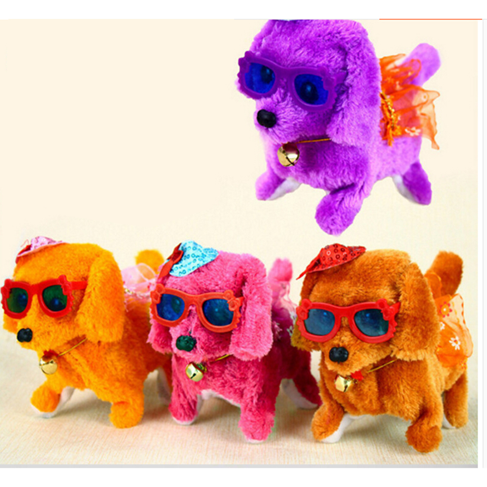 1Pc Walking Barking Toy Funny Electric Short Floss Dog Toys Electric ... | Dog Toys That Move