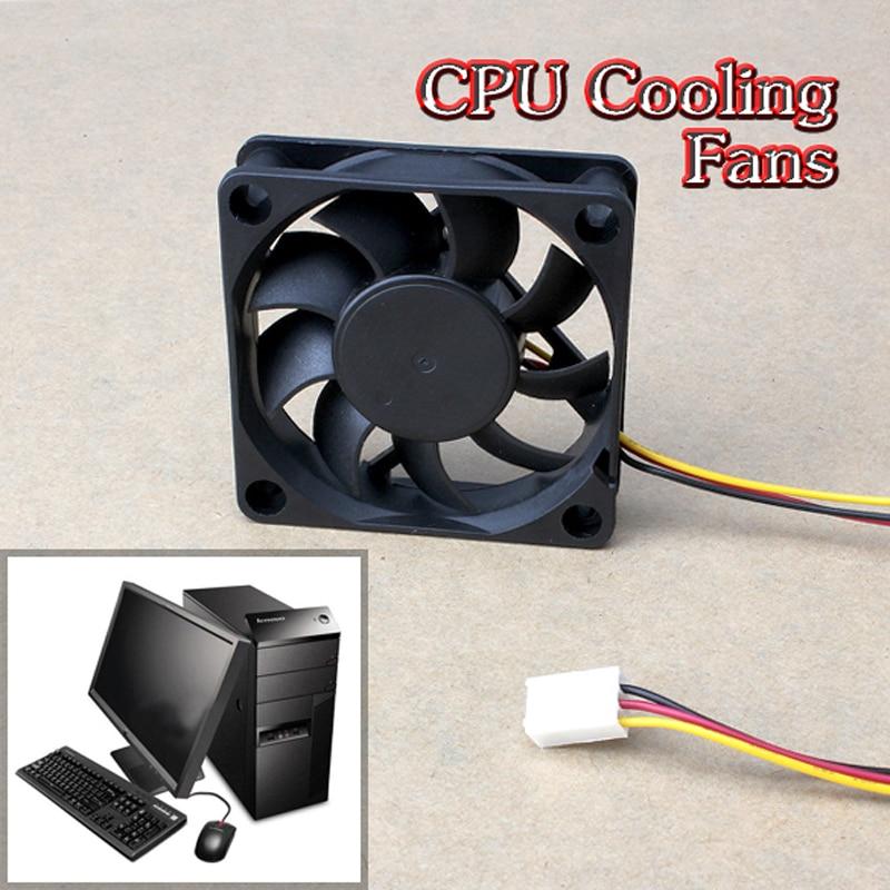 60x60x15mm 3 Pin 12V Case Computer Cooler Cooling Fan PC Black Best Price aerocool 15 blade 1 56w mute model computer cpu cooling fan black 12 x 12cm 7v