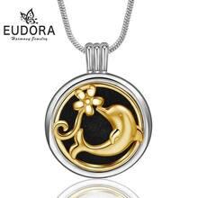 Ожерелье eudora с диффузором эфирного масла 20 мм медные дельфины