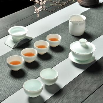 Kung Fu Tea Have Suit A Complete Set High Archives Trace A Design In Gold Black Tea Infusion Of Tea Organ Ceramics Teacup