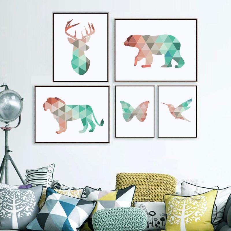 Modern home decor olivia decor decor for your home and office - Geometrische wandbilder ...
