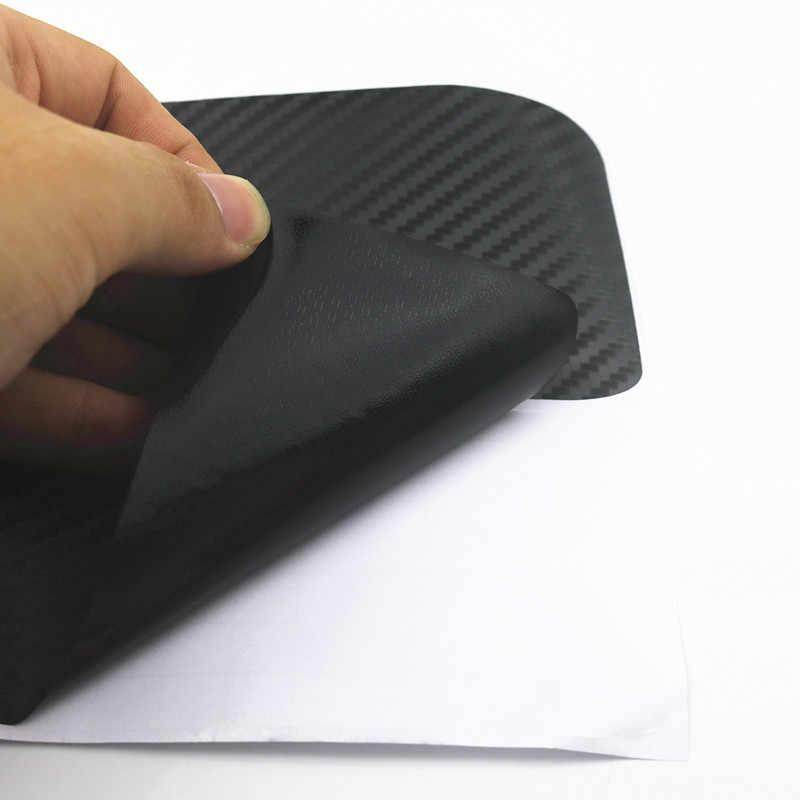 Fibra De Carbono Universal Bem-vindo Pedal do Peitoril Da Porta Scuff Guarnição Adesivos Decalque Arranhões Protetor de Automóveis Acessórios de Estilo de Carro