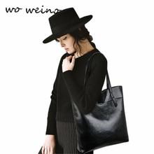 Woweino 2016 Damentaschen Einfache Winter Größere Kapazität Leder berühmte marken Handtaschen Frauen Messenger Bags Tote Hobo Bag
