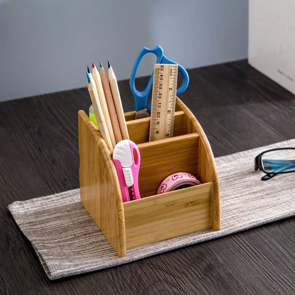 Suporte de caneta de madeira desktop papelaria