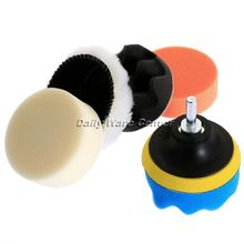 7Pcs 3 Inch High Gross Auto Car Polishing Buffer Pad Kit + M14 Drill Adapter Cleaning Sponge Wheel for Wash Detaining