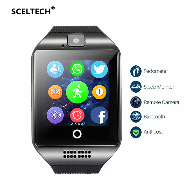 SCELTECH Smart Watch S1 Passometer with Touch Screen Camera Support SIM TF card Bluetooth Smartwatch for Android IOS Phone