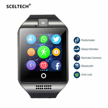 Купить с кэшбэком SCELTECH Smart Watch S1 Passometer with Touch Screen Camera Support SIM TF card Bluetooth Smartwatch for Android IOS Phone