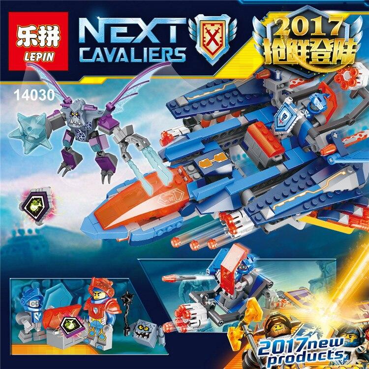 ФОТО Lepin 14030 Nexus Knightse Building Blocks set Clay's Faicon Fighter Blaster figures Kids gift bricks toys compatible 70351