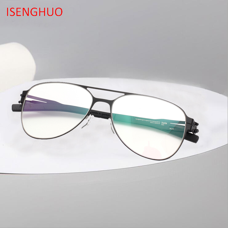 ISENGHUO Brand New Eyeglasses Frames Glasses Eyewear MEN Women Spectacle Frame Gafas De Grau
