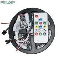 DC5V 5 M 30 diod/m ws2812b ws2812 Taśmy LED Smart 5050 sen kolor Pixel IC indywidualnie Adresowane Cyfrowe led light + kontroler