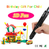 Top Quality Sixth Generation 3Color 3D Pens For Child S Brithday Gift High Low Temperature 3D