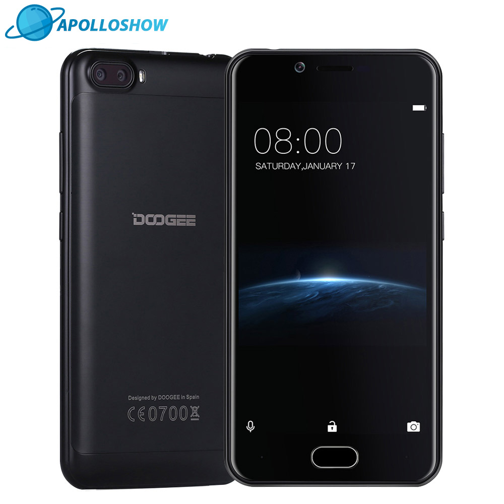 DOOGEE Shoot 2 Dual Camera Android 7 0 Cellphone Dual SIM 5 0Inch MTK6580A Quad Core
