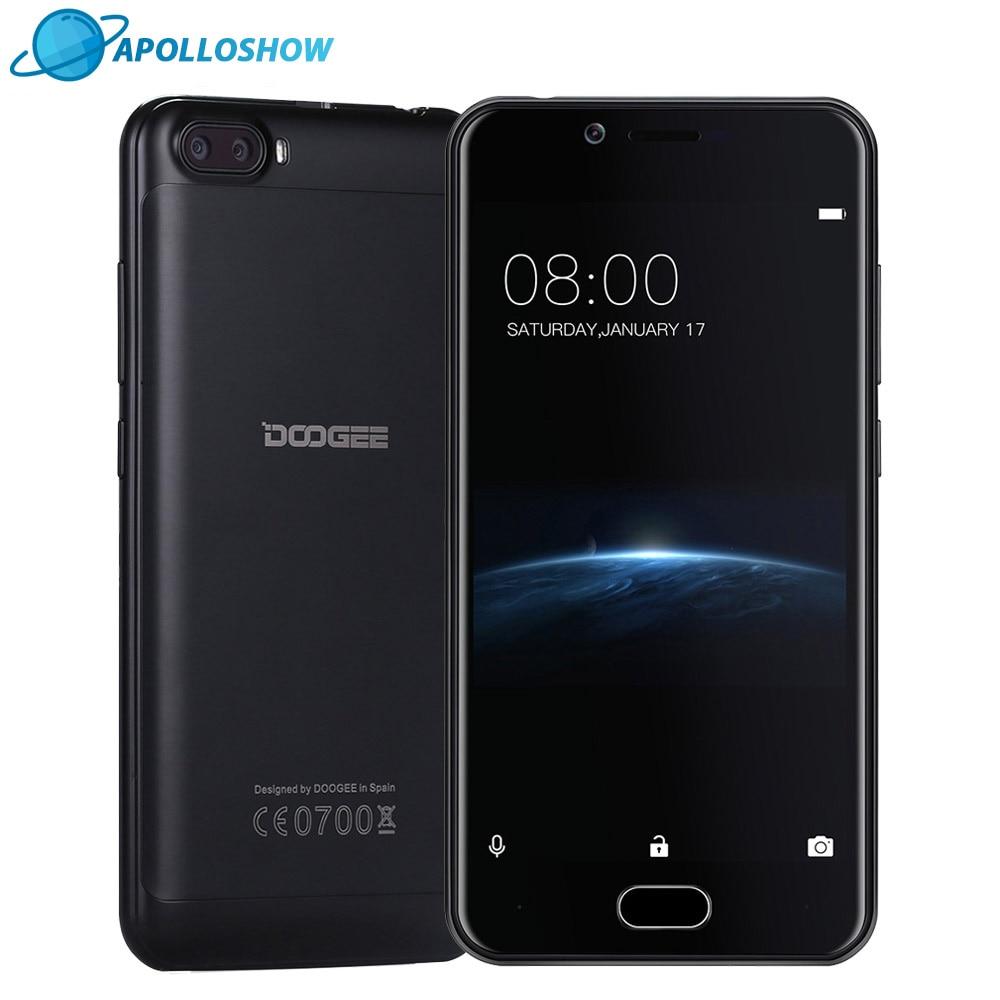 Galleria fotografica DOOGEE Tirer 2 Double Caméra Android 7.0 Téléphone Portable Dual SIM 5.0 Pouces MTK6580A Quad Core mobile téléphones 3360 mAH WCDMA <font><b>Smartphone</b></font>