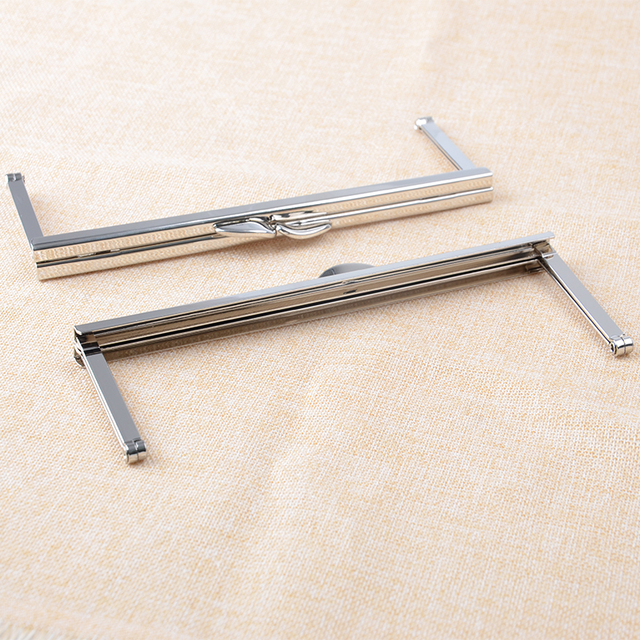 6 34 inch silver purse frame open channel metal purse frame bulk price 40pcs - Metal Purse Frames