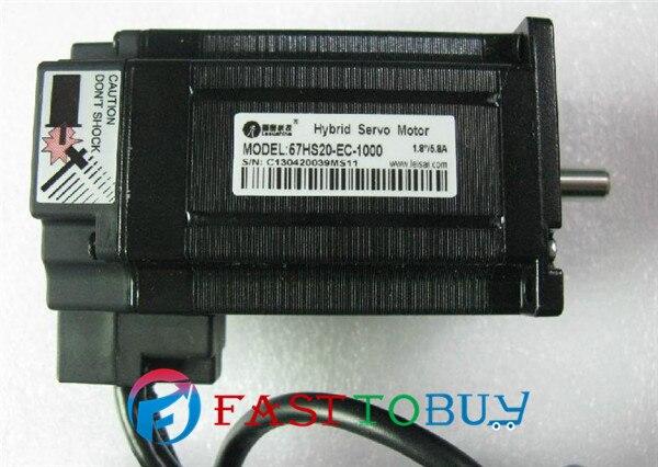 цена NEW 57HBM20-1000 Leadshine hybrid servo motor 1.8 degree 2.0NM 5.8A One Year Warranty