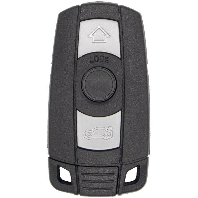 WhatsKey 3 Button Remote Car Key Shell Smart Key Cover Fob Case For BMW 1 3 5 6 Series E91 E92 E60 E90