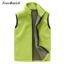 Free Ostrich Vest Women Autumn Winter Warm Solid Casual Fleece Tank Sleeveless Zipper Solid Gilet Chalecos Para Mujer L0140