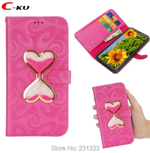 Phone Bags & Cases Tireless C-ku For Iphone X Xs Max Xr 7 Plus I7 8 6 6s Se 5 5s Liquid Love Heart Wallet Leather Pouch Case Stand Id Card Skin Cover 100pcs Drip-Dry