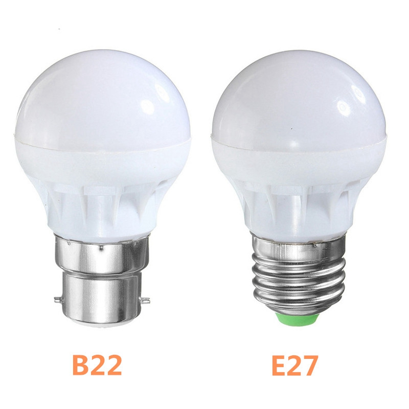 High Quality E27/B22 3W RGB 5050 SMD 6 LED Globe Light Bulb Lamp Energy Saving 16 Colors ...