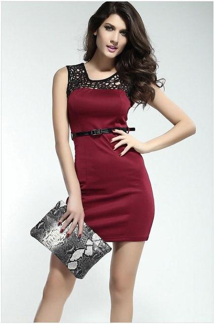 Wine Short Dress