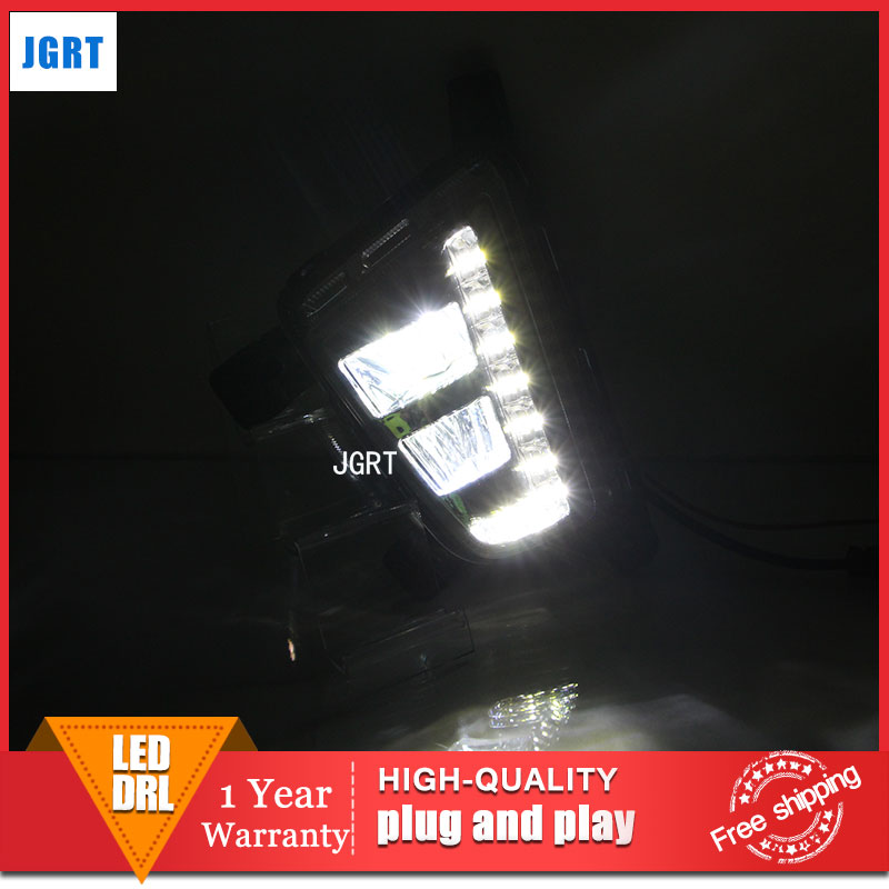 car styling 2014-2015 For Hyundai IX25 LED DRL For IX25 led fog lamps daytime running light High brightness guide LED DRL car styling for mazda cx 5 led drl for mazda cx 5 led fog lamps daytime running light high brightness guide led drl