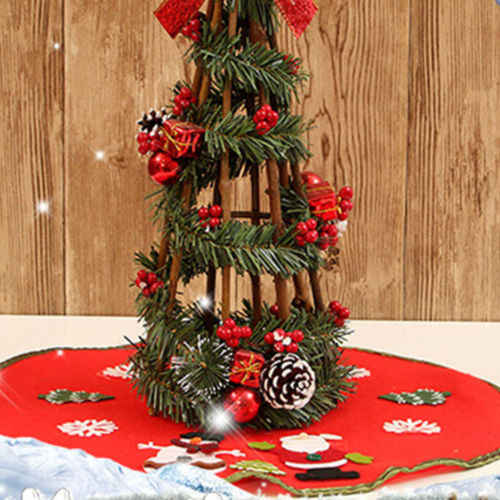 Рождественская Мягкая юбка с Санта-елкой, напольный коврик, рождественские вечерние украшения