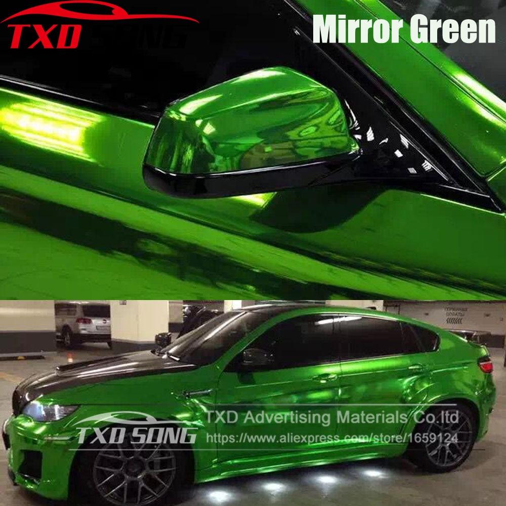 "Car Mirror Green Chrome Vinyl Film Wrap Graphic Sticker Decal Roll 20/""x60/"""