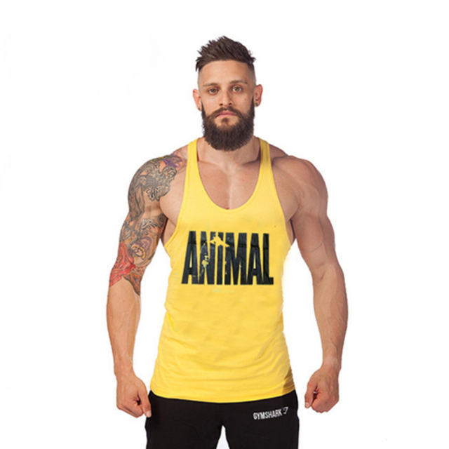 ea28064c13fa9 Animal Wholesale cotton bodybuilding workout tank tops gym shark stringer  tank tops fit muscle mens gasp gold gym top