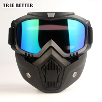 Harley Goggles Ski Mask Windproof Motorcycle Glasses Cross Country Outdoor Sports UV400 Anti Fog Unisex Snowboard