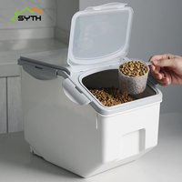PP Storage Box Grains Beans Storage Dog Cat Food Barrel Large Capacity Pet Storage Contain Sealed Home Organizer Food Container
