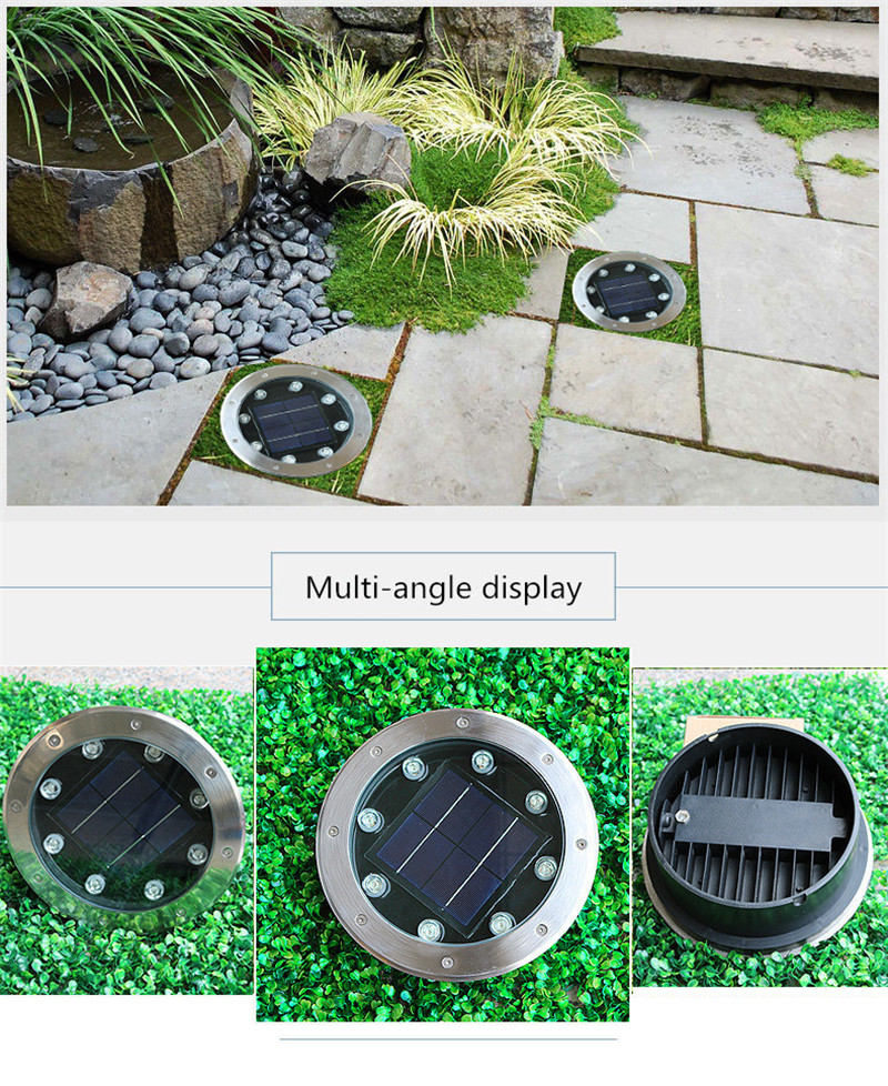 LED Solar Light Home Garden Ground Lamp Solar Power Buried Light Outdoor Path Way Garden Decking Yard Lawn Lighting RGB 4W 8W in LED Underground Lamps from Lights Lighting