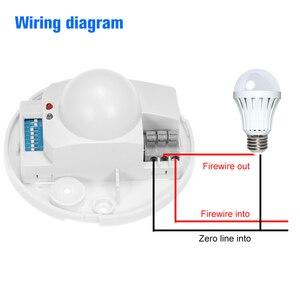 Image 4 - Mikrowelle Radar Sensor Licht Decke Schalter Belegung PIR Körper Motion Detektor 360 Grad Zeit Einstellung 5,8 ghz HF Systerm