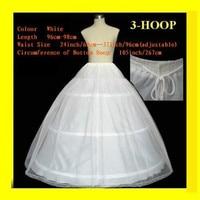 FREE SHIPPING Hot sale 50% off 3 HOOP Ball Gown BONE FULL CRINOLINE PETTICOAT WEDDING SKIRT SLIP H-3