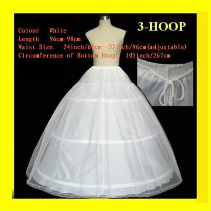 FREE SHIPPING Hot sale 50 off 3 HOOP Ball Gown BONE FULL CRINOLINE PETTICOAT WEDDING font